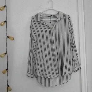 plus pin striped blouse